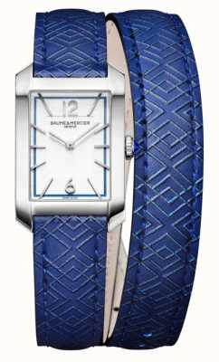 Baume & Mercier Hampton Quartz Blue Leather Strap M0A10629