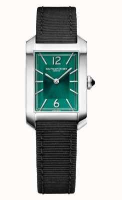 Baume & Mercier Hampton Black Canvas Strap Watch M0A10630