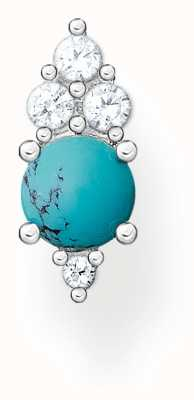 Thomas Sabo Silver Turquoise Zirconia Turquoise Single Ear Stud H2181-405-17