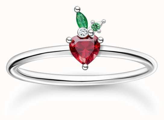 Thomas Sabo Silver Strawberry Ring | Size 56 (UK O 1/2) TR2350-699-7-56