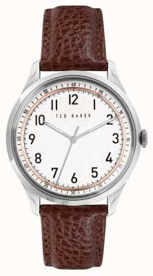 Ted Baker DAQUIR | White Dial | Brown leather Strap BKPDQS109