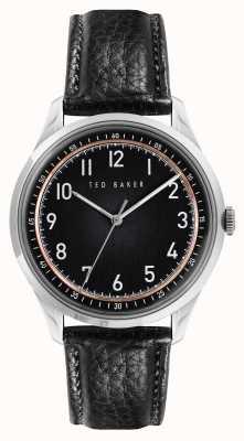 Ted Baker | Daquir | Black Dial | Black Leather Strap | BKPDQS110