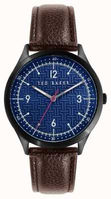 Ted Baker Manhatt | Blue Dial | Brown Leather Strap BKPMHS114