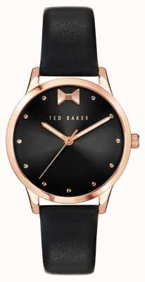 Ted Baker Fitzovia Bow | Black Dial | Black Leather Strap BKPFZS119