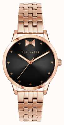 Ted Baker Fitzrovia Bow | Black Dial | Rose Gold Strap BKPFZS120