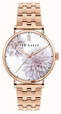 Ted Baker Phylipa | Floral Dial | Rose Gold Strap BKPPHS120