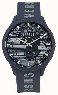 Versus Versace Men's Domus Blue Silicone Strap Watch VSP1O0221