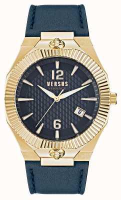 Versus Versace Echo Park Blue Leather Strap Watch VSP1P0221