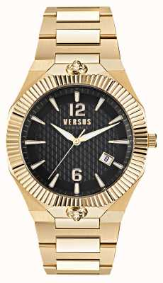 Versus Versace Echo Park Gold Stainless Steel Black Dial Watch VSP1P0721