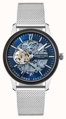 Kenneth Cole Automatic | Dark Blue Dial | Stainless Steel Mesh KC50224001A