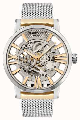 Kenneth Cole Automatic | Silver Dial | TT SS/Hamilton Gold Stainless Steel Mesh KC51018021B
