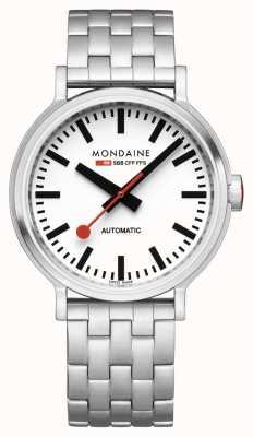 Mondaine Original Automatic | Backlight | Stainless Steel Bracelet | White Dial | MST.4161B.SJ