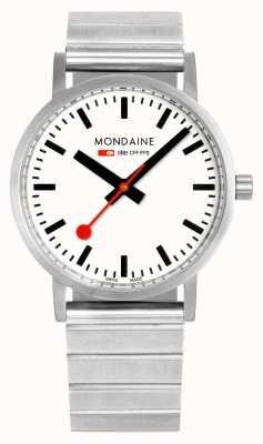 Mondaine Classic Metal 36mm | Stainless Steel Bracelet | White Dial A660.30314.16SBJ