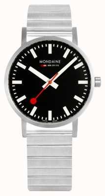 Mondaine Classic Metal 36mm | Stainless Steel Bracelet | Black Dial A660.30314.16SBW