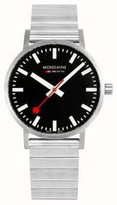 Mondaine Classic Metal 40mm | Stainless Steel Bracelet | Black Dial A660.30360.16SBW