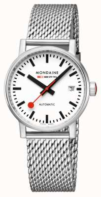 Mondaine Evo2 Automatic 35mm | Stainless Steel Bracelet | White Dial MSE.35610.SM