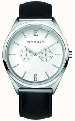 Bering Classic | Unisex | Black Leather Strap | White Dial 17140-404