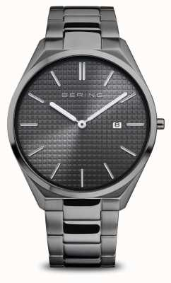 Bering Ultra Slim | Men's | Polished/Brushed Grey | Grey Dial 17240-777