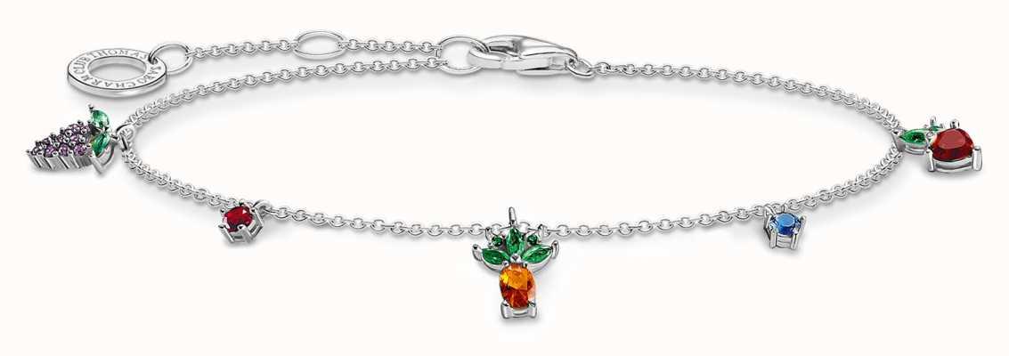 Thomas Sabo Colourful Fruits Sterling Silver Bracelet A2026-477-7-L19V