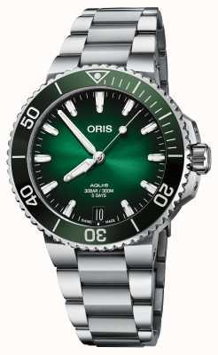 ORIS Aquis Date Calibre 400 41.5mm Green Dial 01 400 7769 4157-07 8 22 09PEB
