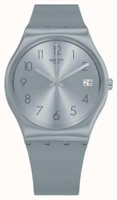 Swatch Azulbaya Blue Silicone Strap Watch GL401