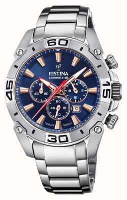 Festina Chronobike 2021 | Navy Blue Dial | Stainless Steel Bracelet F20543/4