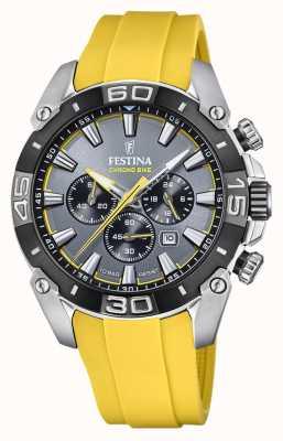 Festina Chronobike 2021   Grey Dial   Yellow Silicone Strap F20544/7