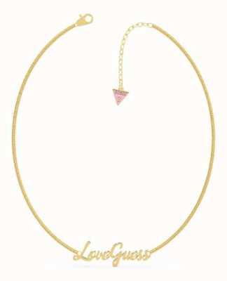 Guess Dream & Love | 16-18'' 'Love guess' Script Gold Necklace UBN70049