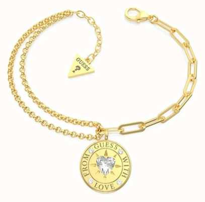 Guess From Guess With Love | Women's Gold Plated Steel Bracelet UBB70001-L