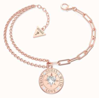 Guess From Guess With Love | Women's Rose Gold Plated Steel Bracelet UBB70002-L