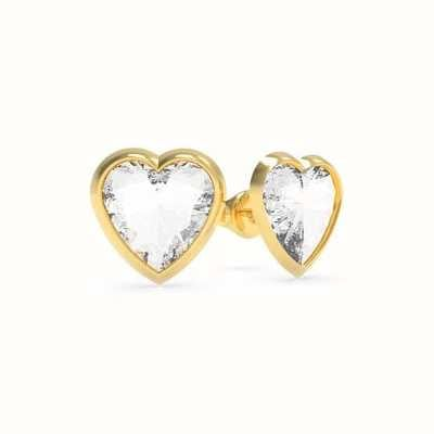 Guess From Guess With Love | Crystal Heart Gold Stud Earrings UBE70040