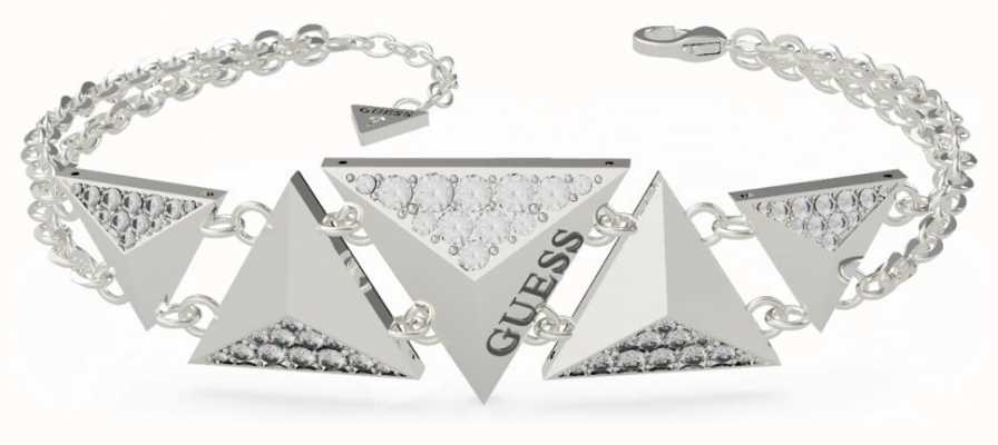 Guess Guess Explosion |  Double Chain Triangles Silver Bracelet UBB70073-L