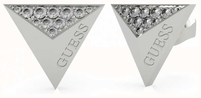 Guess Guess Explosion | Triangle Silver Stud Earrings UBE70148