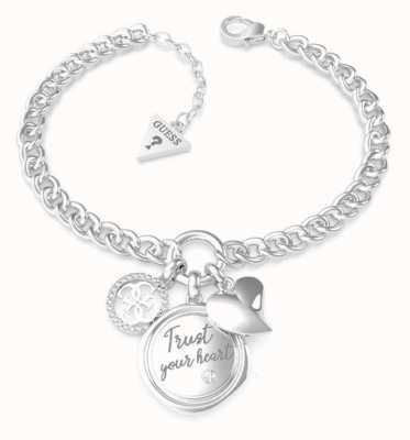 Guess Guess My Feelings | Trust Your Heart Charm Bracelet UBB70047-L