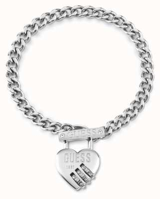 Guess Lock Me Up | Women's Stainless Steel Chain Bracelet UBB20056-L
