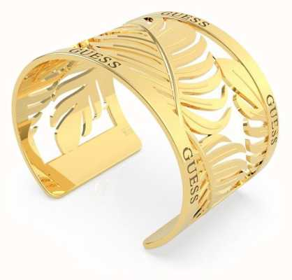 Guess Tropical Summer | 40mm Leaves Open Gold Bangle UBB70131-L