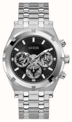Guess CONTINENTAL Men's Stainless Steel Black Dial GW0260G1