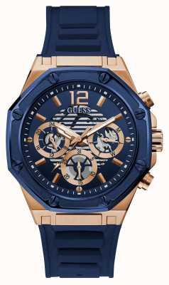Guess MOMENTUM Men's Blue Silicone Strap Watch GW0263G2
