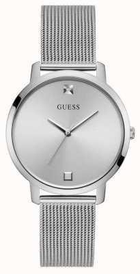 Guess Nova | Women's Silver Steel Mesh Bracelet | Silver Dial GW0243L1