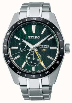 Seiko Presage Sharp Edged GMT Green Dial SPB219J1
