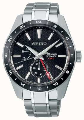 Seiko Presage Sharp Edged GMT Black Dial SPB221J1