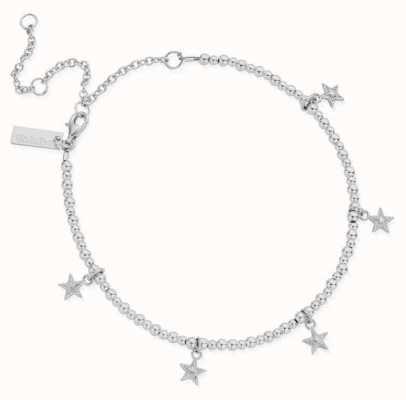 ChloBo Mini Cute Multi Star Anklet | Sterling Silver SANMC3028