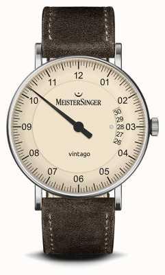 MeisterSinger Mens | Vintago | Suede | Leather Strap MEISTERSINGER VT903