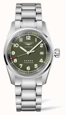 Longines Spirit Green Dial Stainless Steel Bracelet L38104036