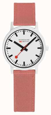 Mondaine Essence 32mm | Pink Suede Strap | White Dial MS1.32111.LP