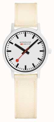 Mondaine Essence 32mm | Off White Strap | White Dial MS1.32111.LT