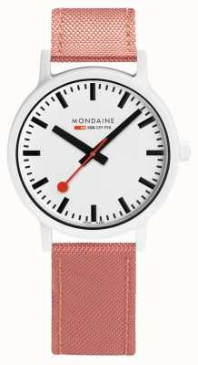 Mondaine Essence 41mm | Pink Suede Strap | White Dial MS1.41111.LP