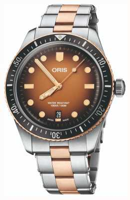 ORIS Divers Sixty Five Orange Dial Watch 01 733 7707 4356-07 8 20 17