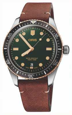 ORIS Divers Sixty-Five Green Dial Watch 01 733 7707 4357-07 5 20 45