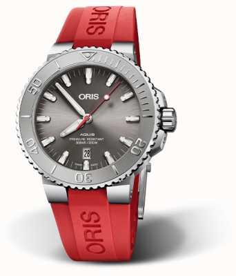 ORIS Aquis Date Relief Red Rubber Strap 01 733 7730 4153-07 4 24 66EB